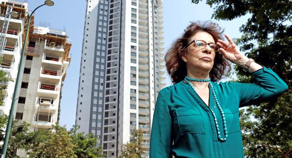 """רחל אלתרמן בנתניה. """"מגדלים הם הנטל העירוני והסביבתי הגדול ביותר שאנחנו מייצרים"""""""