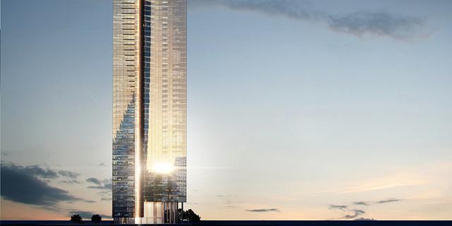 הדמיית המגדל החדש, הדמיה: משה צור אדריכלים ובוני ערים