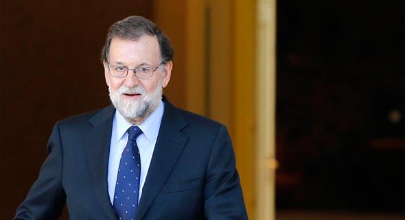 ראש ממשלת ספרד מריאנו ראחוי. תגובה תקיפה למרד הקטלוני, צילום: איי פי