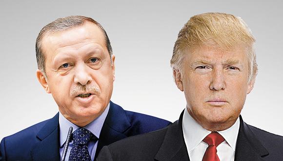 """נשיא ארה""""ב דונלד טראמפ ונשיא טורקיה רג'פ טאיפ ארדואן, צילום: איי אף פי, רויטרס"""
