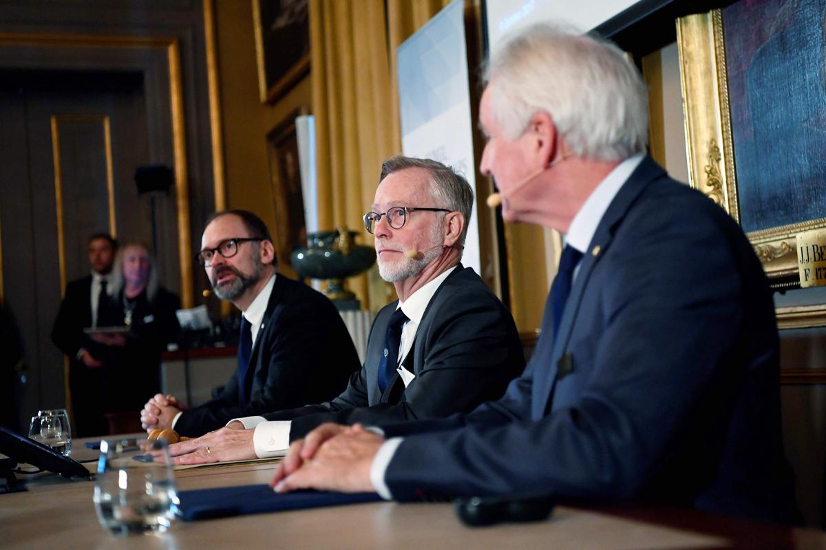 ועדת פרס נובל לכלכלה בעת ההכרזה על זכייתו של ת'אלר. הכרה מהממסד אחרי שנים של לעג
