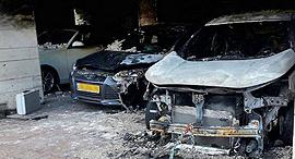 הצתת רכב הבכיר בהפניקס, צילום: כבאות והצלה גבעתיים