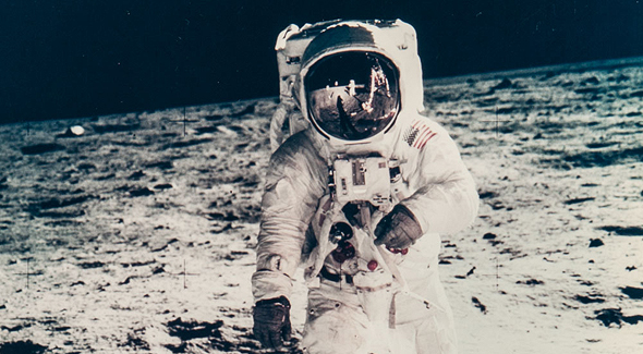 American astronaut Buzz Aldrin on the moon. Photo: NASA