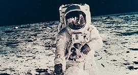 אסטרונאוט באז אולדרין על הירח אפולו 11 1969 מחיר משוער 1200-1800 דולר, צילום: NASA