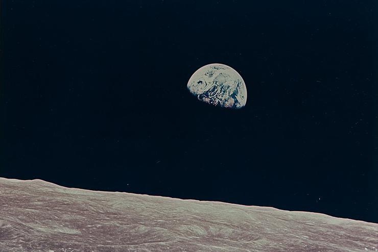 זריחת כדור הארץ מהחללית אפולו 8, 1968, צילום: NASA