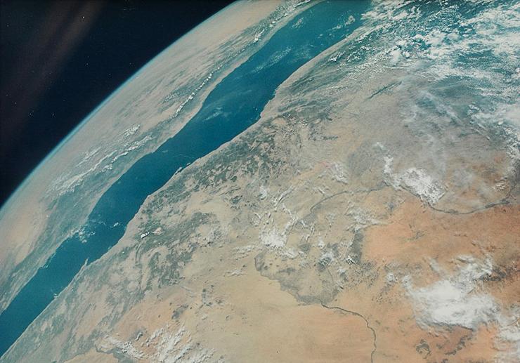 ים סוף והנילוס מהחללית ג