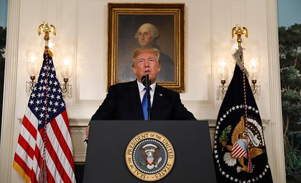 טראמפ בנאומו הערב, שבו הציג אסטרטגיה חדשה נגד איראן