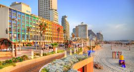 טיילת תל אביב חוף מלון דן קטגוריה, צילום: שאטרסטוק