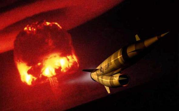משייט במאך 3, מפזר פצצות אטום. פלוטו