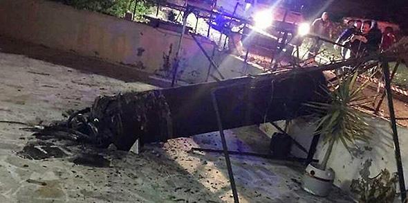 השרידים שהתרסקו בירדן בתקרית הקודמת בחודש מרץ
