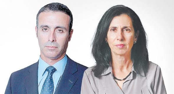 מימין דורית סלינגר ו יהודה בן אסאייג, צילום: אלכס קולומויסקי, עמית שעל