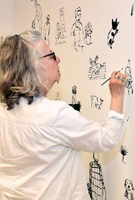 המאיירת האמריקאית מאירה קלמן, איור: מאירה קלמן