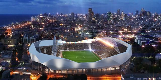 הדמיית אצטדיון בלומפילד. איך ירימו תשתיות?, צילום: עיריית תל אביב יפו