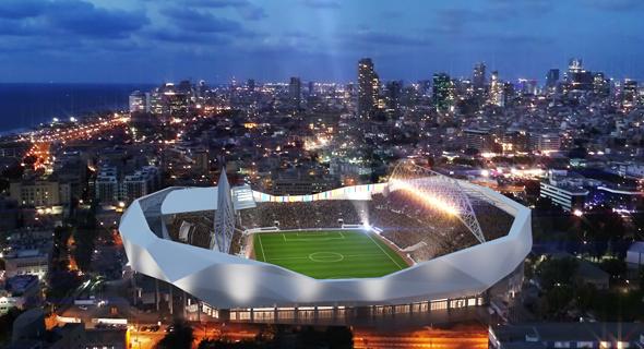 הדמיית אצטדיון בלומפילד. הכנסה גבוהה