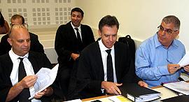 מימין נאמני מגה גבי טרבלסי אודי גינדס ו אמיר ברטוב, צילום: יריב כץ