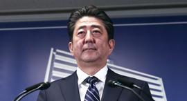 ראש ממשלת יפן שינזו אבה 23.10.17, צילום: איי אף פי