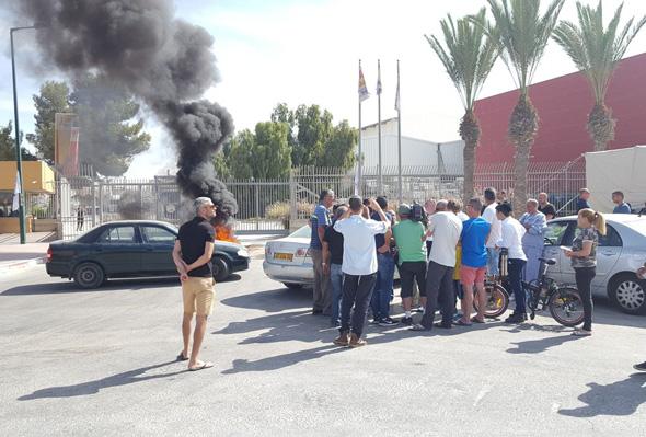 הפגנה של עובדי נגב קרמיקה