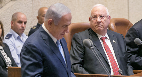 Benjamin Netanyahu and Reuven Rivlin. Photo: Ohad Zwigenberg