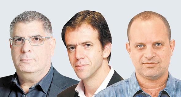 """מימין עו""""ד אמיר ברטוב, עו""""ד אודי גינדס ורו""""ח גבי טרבלסי, צילומים: עמית שעל ,אוראל כהן"""