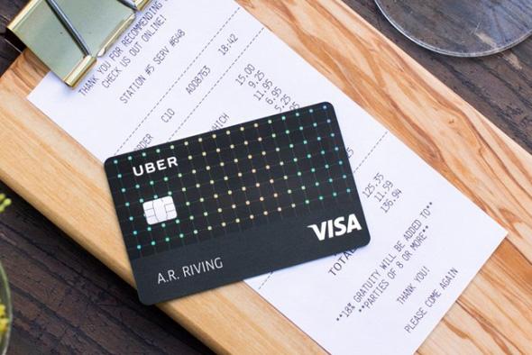 אובר קרדיט כרטיס אשראי ויזה, צילום: UBER