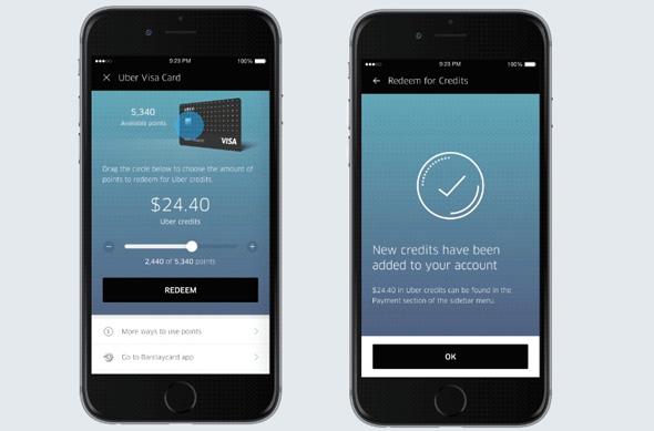 אובר קרדיט ויזה כרטיס אשראי, צילום: UBER
