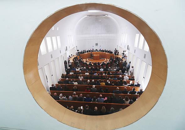 בית המשפט העליון בטקס פרישת מרים נאור, צילום: יונתן זינדל/פלאש90