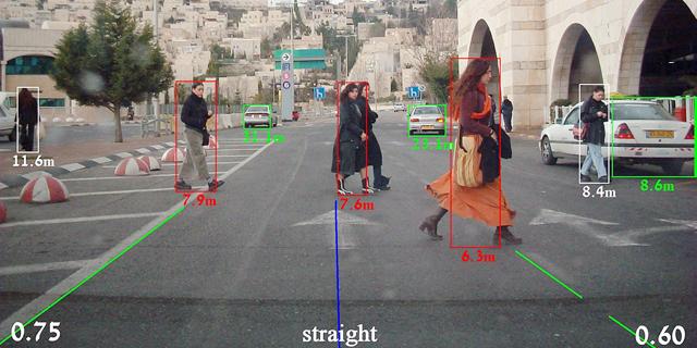 תוכנת עיבוד התמונה של מובילאיי לרכב אוטונומי