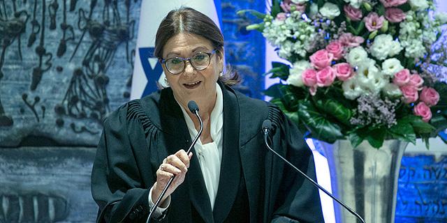 נשיאת העליון אסתר חיות, צילום: אוהד צויגנברג