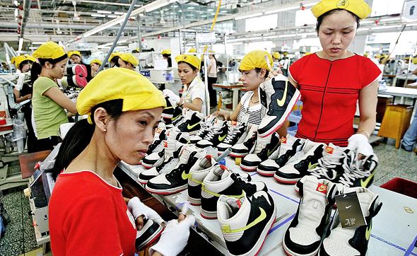 מפעל נייקי ב ווייטנאם, צילום: איי פי