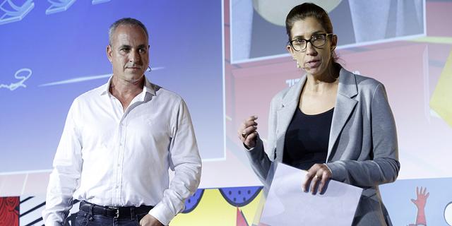 """רונית פטר בן דוד וערן וולף, מימון ישיר. """"המודל שלנו מבוסס על 6,000 חוקים עסקיים"""", צילום: עמית שעל"""
