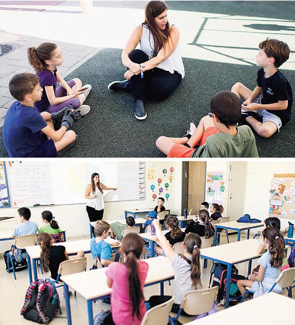 """מנחי סייסיי בפעולה. """"חשוב לי שמדריך יענה בכנות על השאלה באילו תלמידים התאהב, בלי לטעות ולומר 'את כולם', ואז להגיד לי פרטנית איך הוא מאמין בכל ילד"""""""