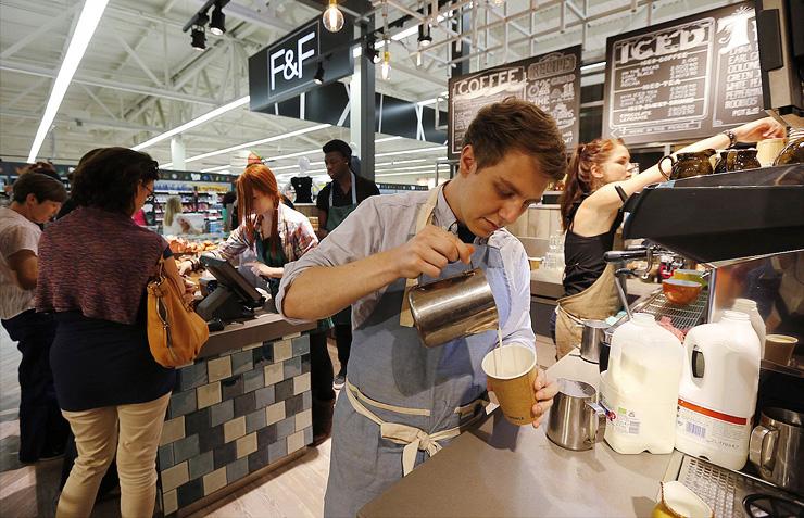 בית קפה בתוך סופר, צילום: רויטרס