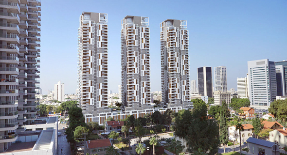 הדמיה של פרויקט יונייטד שרונה , צילום: מינהל מגורים ישראל