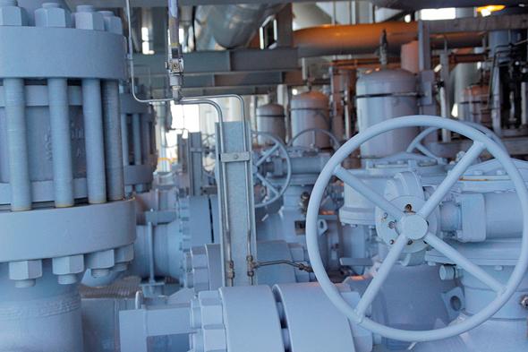 מתקן לקידוח גז טבעי