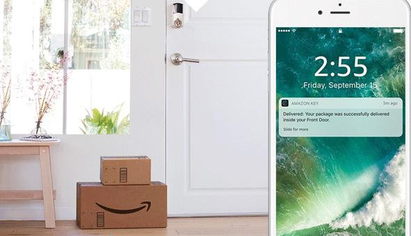 אמזון קי Amazon Key אינטרנט מנעול הדברים חבילה, צילום: Amazon