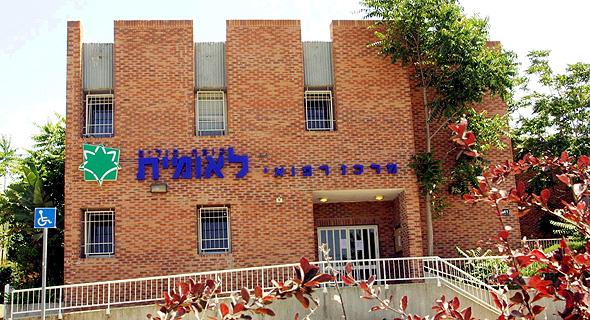 סניף קופת חולים לאומית באריאל. שיאנית העזיבות