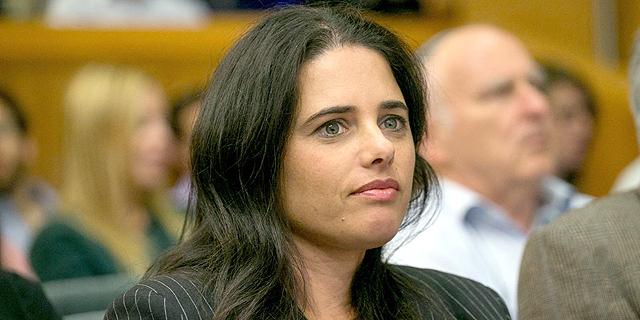 """איילת שקד. """"יש לה משנה סדורה של החלשת הרשות השופטת, והיא רוכבת על גל עכור שעובר על הפוליטיקאים, בעיקר מהימין, בשנים האחרונות"""" , צילום: אוהד צויגנברג"""