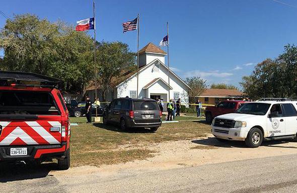 זירת הפיגוע בטקסס