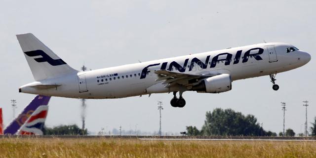 מטוס של חברת התעופה של פינלנד, פינאייר, צילום: רויטרס