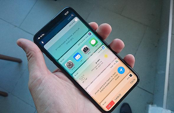 אייפון X סמארטפון אפל זיהוי פנים אייפונים 8, צילום: רפי קאהאן