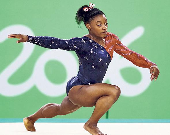 המתעמלת סימון ביילס באולימפיאדת ריו 2016. אובדן השידורים היווה מכה לערוץ הראשון, צילום: גטי