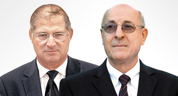 דוד שמרון ו יצחק מולכו, צילום: גיל  נחושתן, אלכס קולומויסקי