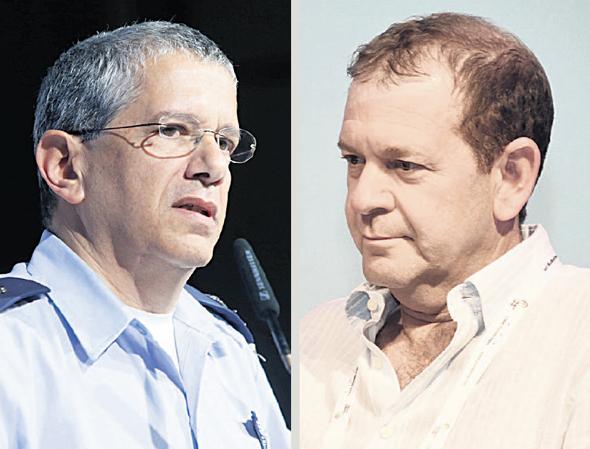 """מימין מנכ""""ל ישראייר אורי סירקיס ומפקד חיל האוויר לשעבר אמיר אשל, צילום: יאיר שגיא, אוראל כהן"""