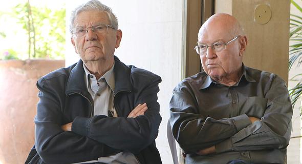 יצחק זמיר ואהרן ברק , צילום: נמרוד גליקמן