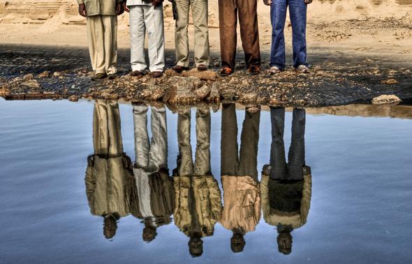 פליטים מדארפור, בצילום של אסף קליגר
