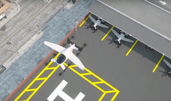 מונית מעופפת ממריאה ממנחת