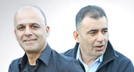מימין איציק ניסנוב ו שרון ניסנוב, צילום: שאול גולן
