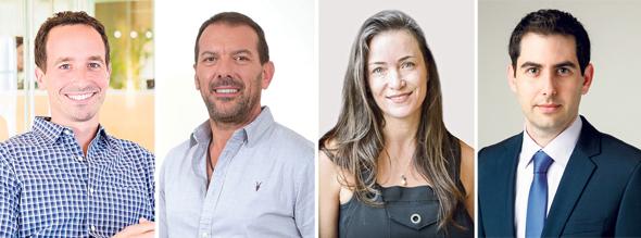 מימין: מורן בן גיגי שותף ב-KPMG, ליאת אהרונסון שותפה בקרן מרקר, ארז שחר מייסד ושותף-מנהל בקומרה קפיטל וניר בלומברגר שותף בקרן אקסל