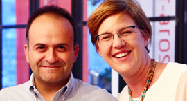 Yoav Tzruya (left), and Fiona Darmon (right), general partners at JVP