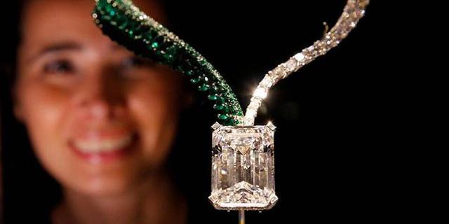 יהלום ענק במשקל 163 קראט נמכר במכירה פומבית תמורת 34 מיליון דולר
